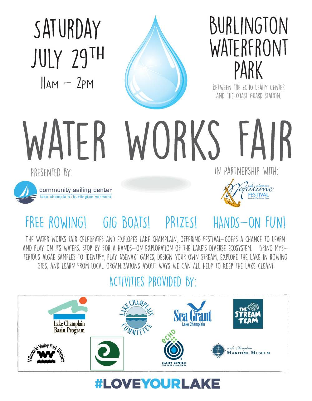 community sailing center 2017 water works fair